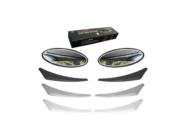 Head Lamp Lid Cover Saga (FLX) (Black)