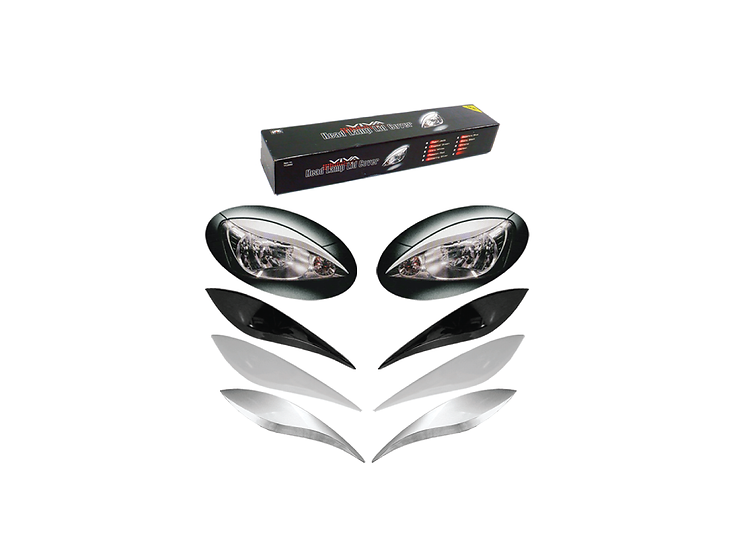 Head Lamp Lid Cover Viva (Ebony Black)