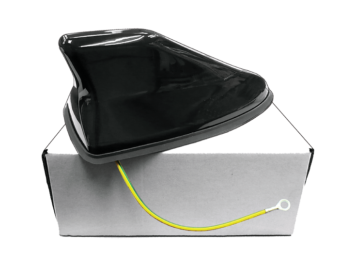Shark Antenna with Cable (Black)