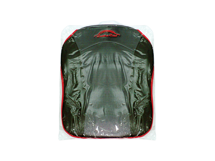 Leather Cool Seat Cushion (Black with Red Lining)