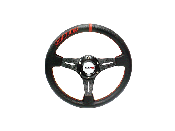13' PVC Steering Wheel Black (Red-lining)