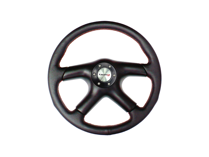 14' PVC Steering Wheel Black (Red-lining)