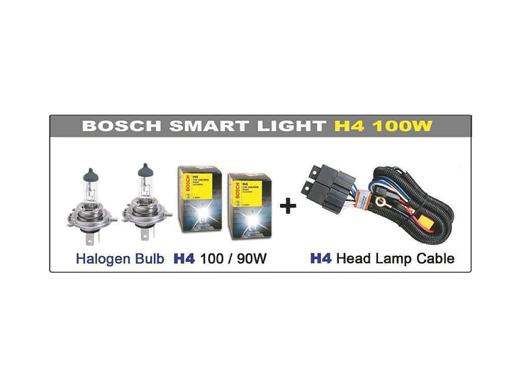 Smart Light System with Bosch H4 100W Bulb (2 pcs)