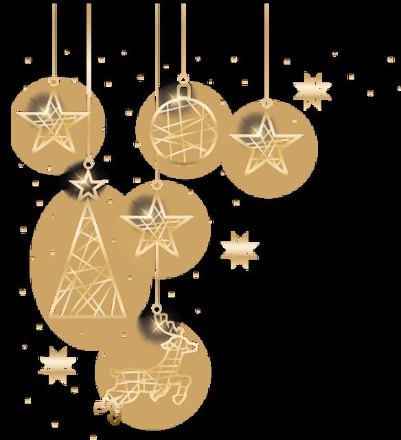 Weihnachten und Verbundenheit Gold-Deko