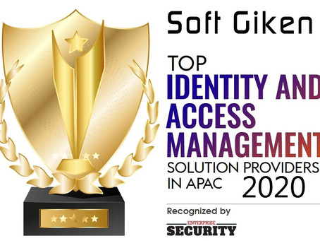 「IDENTITY AND ACCESS MANAGEMENT SOLUTION PROVIDERS IN APAC 2020」のTOPに選ばれました。