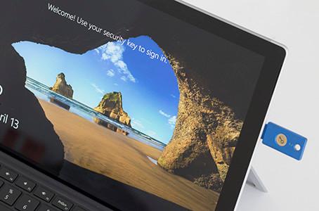 Yubico社とMicrosoft社が、パスワードレスログインを発表