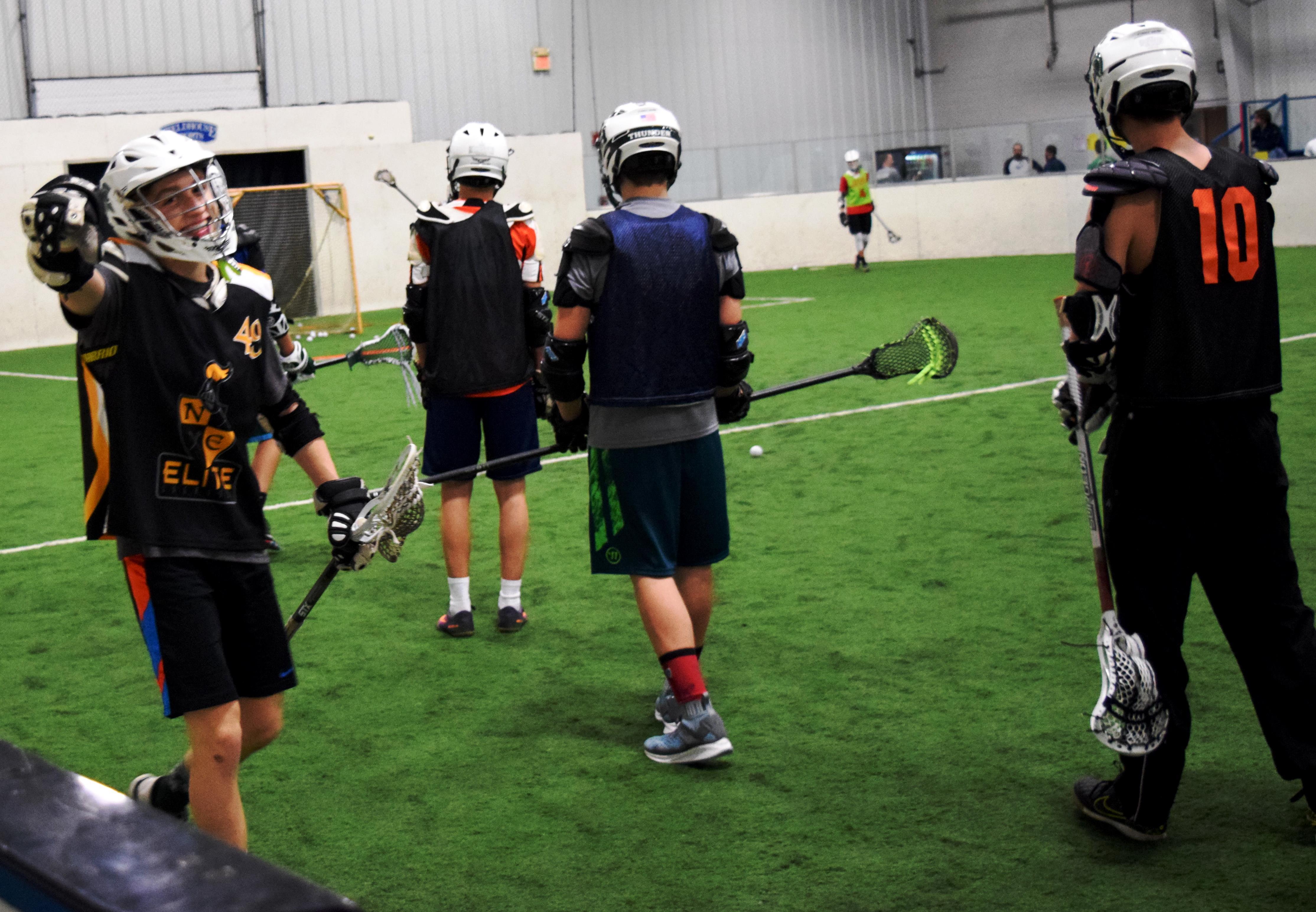 Lacrosse practice at FieldHouse