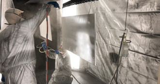 Class-A Commercial Finishing Paint Line's paint booth