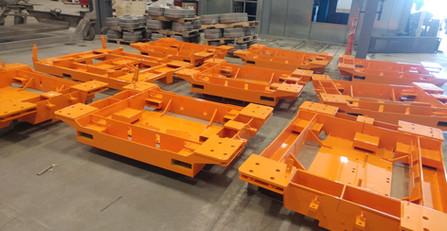 Large Orange Commercial Structures