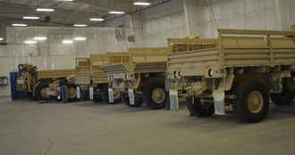 Military Trailers inside