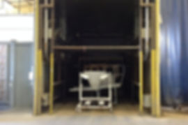 Commercial components in the curing oven