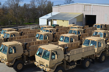 Military vehicles stored on QPC's facility