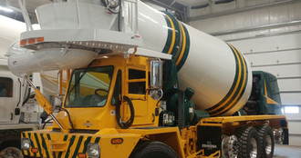 Green Bay Packer's cement mixer