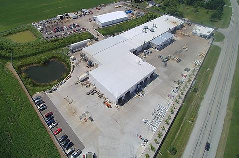 Drone picture of QPC's 12-acre facility