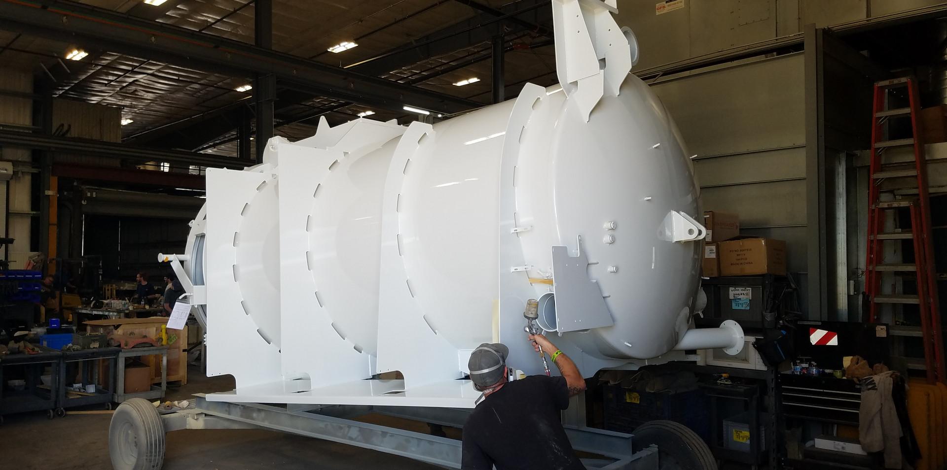 White truck tank