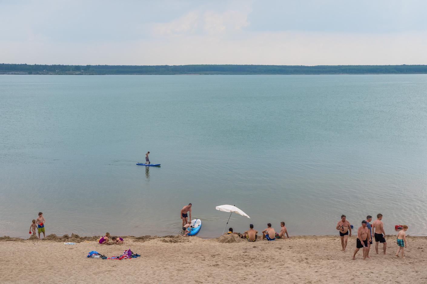 Partwitzer See, Lausitzer Seenland, Niederlausitz, an der Landesgrenze zwischen Sachsen und Brandenburg, 06-2020
