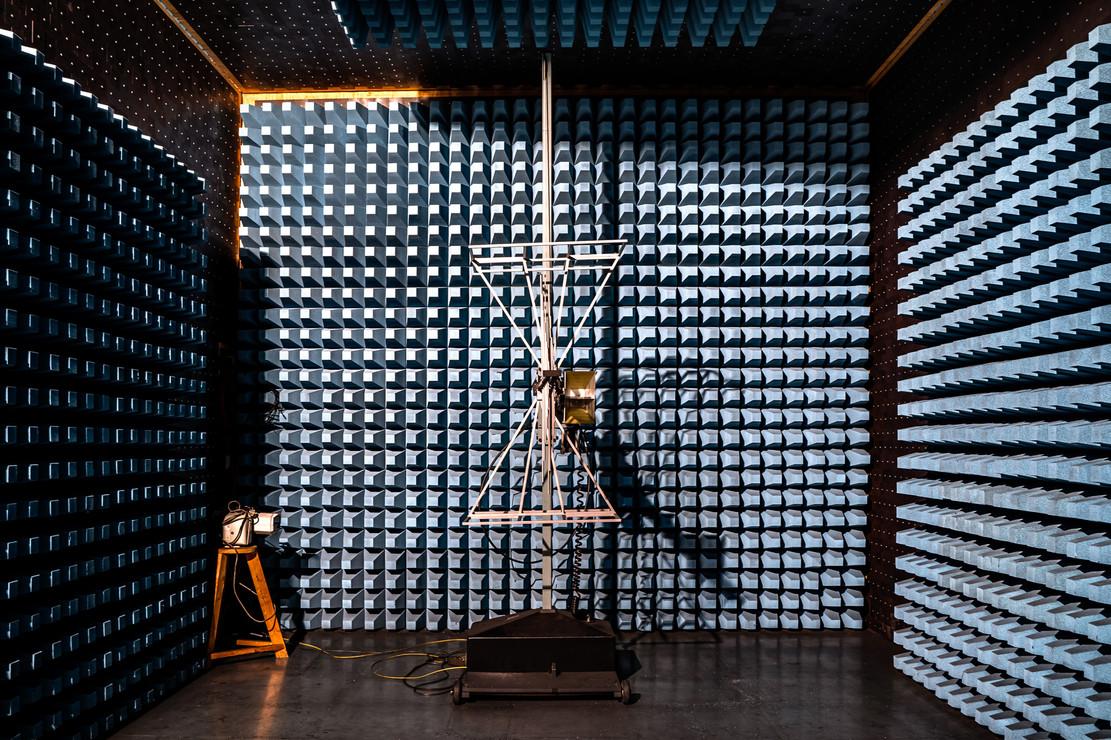 Anechoic room, EMC - Laboratory of the Deggendorf University of Technology, 2019