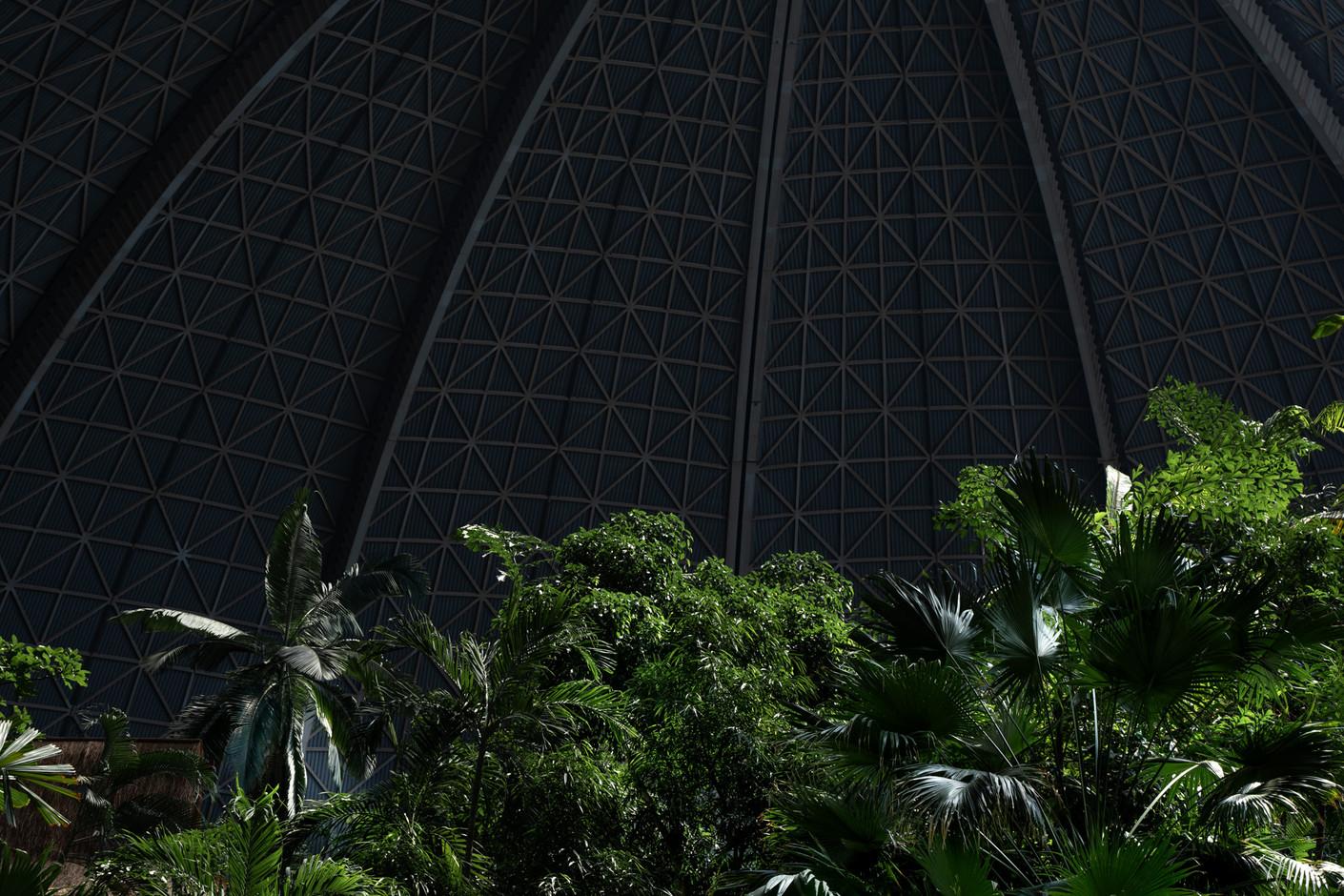 Indoor Regenwald, Tropical  Islands, Krausnick, Brandenburg, 06-2020
