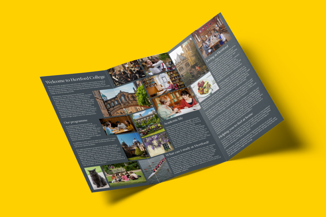 Marketing leaflet for study abroad programmes