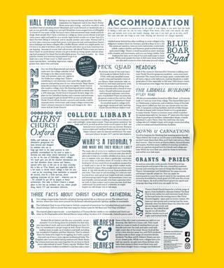 Reverse side of A2 alternative prospectus poster