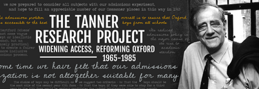 Website banner image for archival research project