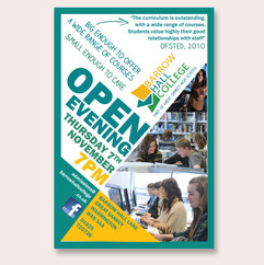 Barrow Hall College Open Evening Poster