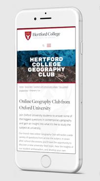 Webinar branding on website