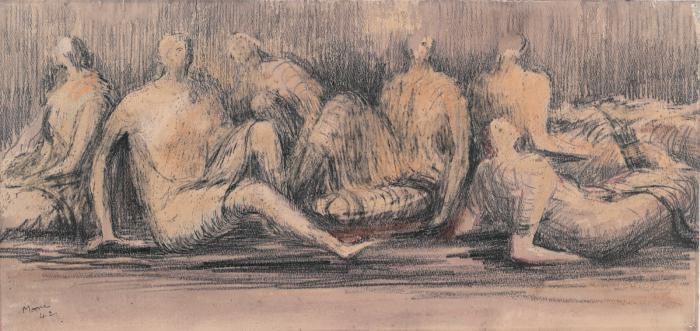 Henry Moore drawing of figures