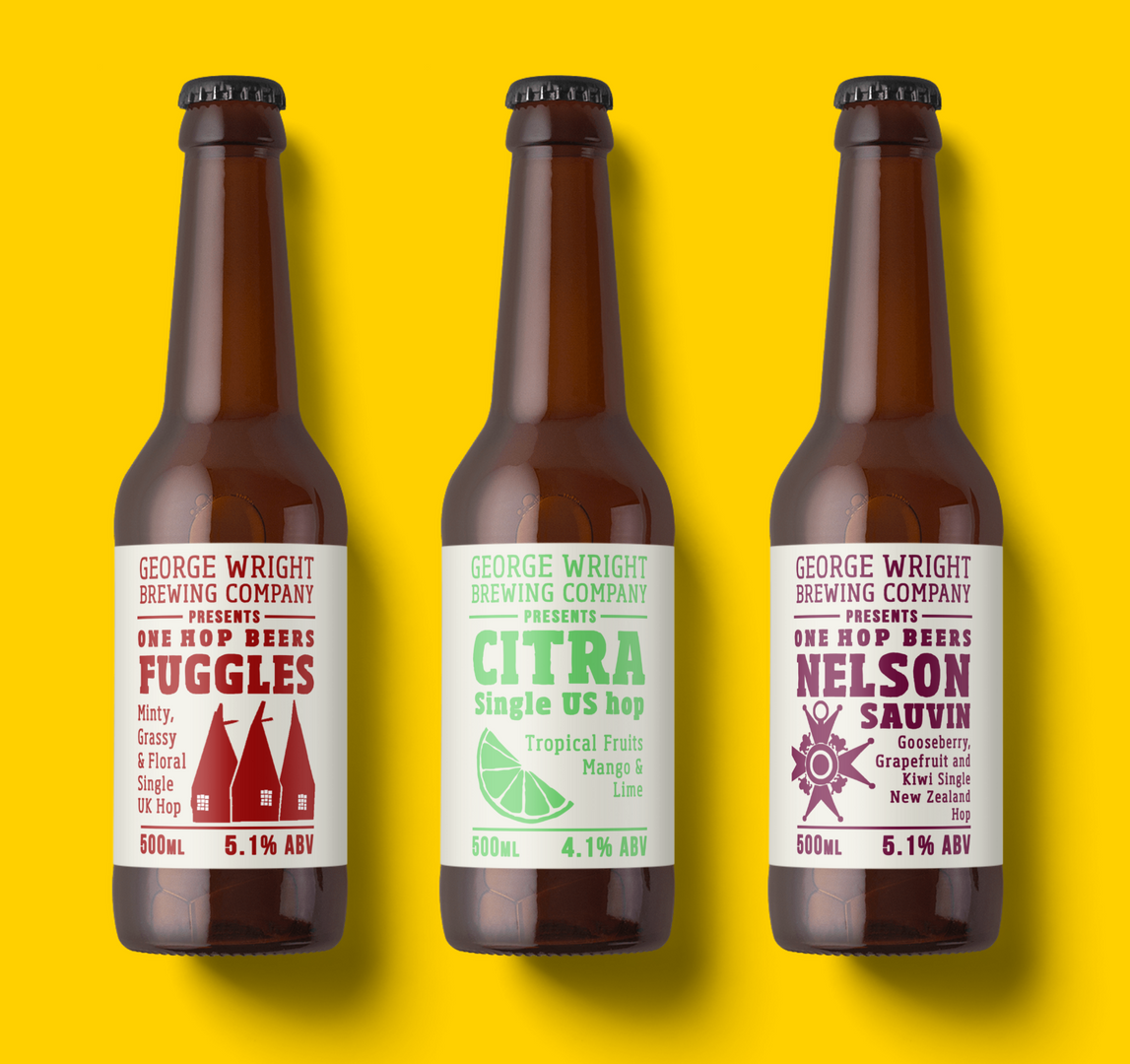 Limited edition labels on bottles