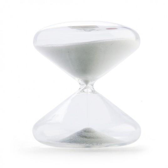 sand timer white 30 mins