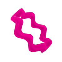 wave bangle ripple pink