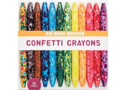 confetti crayons