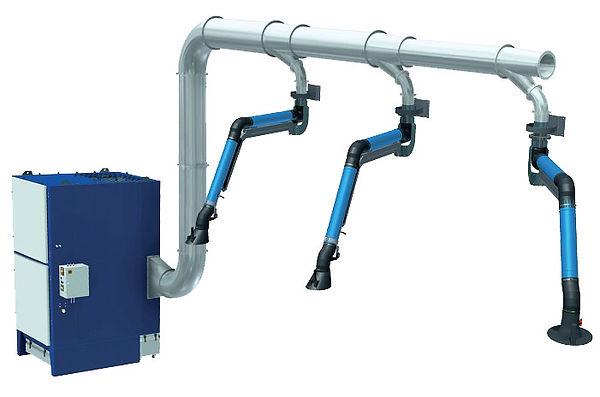 Fume extraction arms
