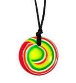 button rock n roll red swirl