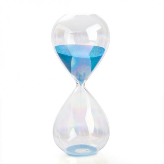 sand timer blue
