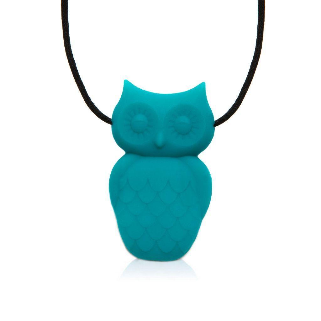 Owl-Chew-Pendant turquoise