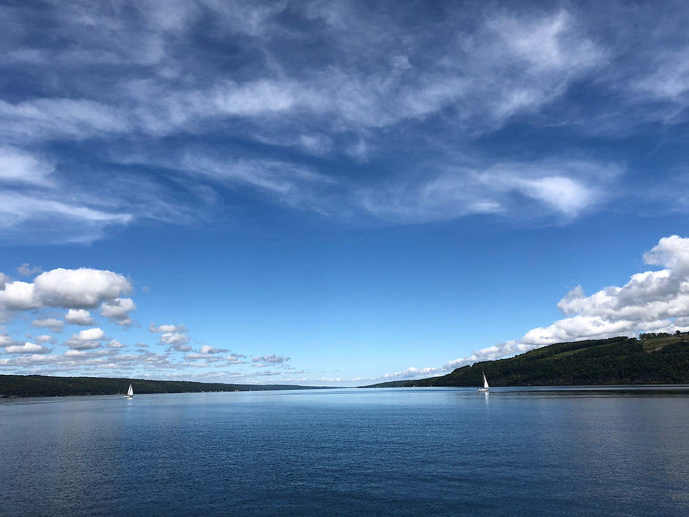 Looking North on Seneca Lake by Ian Lausell
