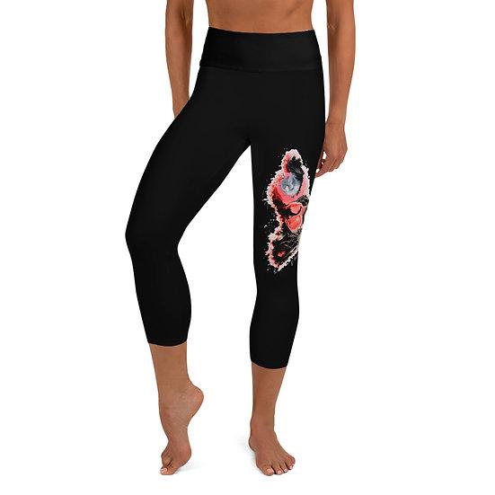 Yoga Capri Leggings - Eternal Flame