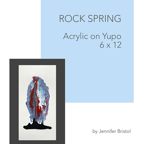 Rock Spring - original painting