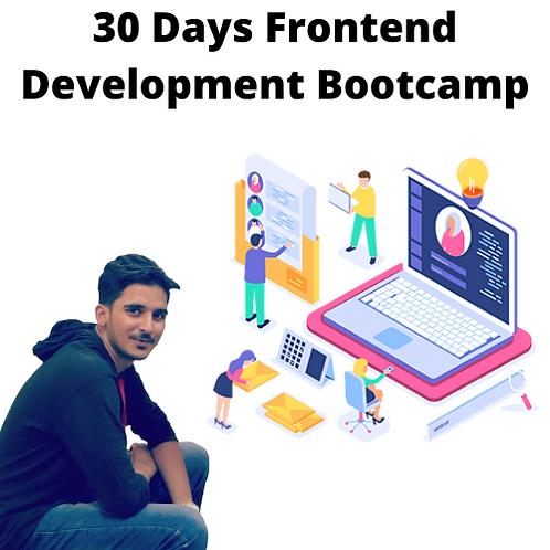 30 Days Of Frontend Development Bootcamp