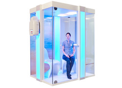 halotherapy salt therapy halo booth pro
