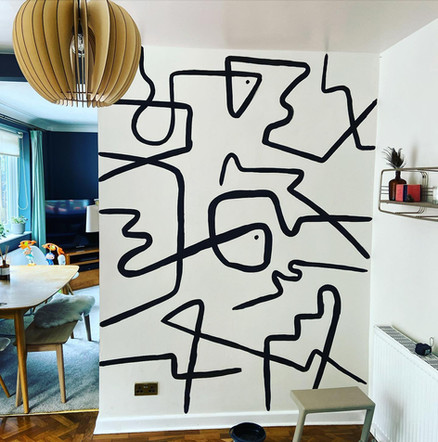 Abstract feature wall