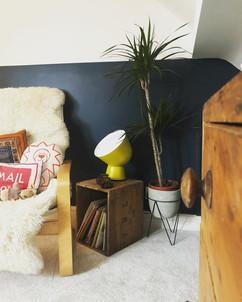 half wall and vintage