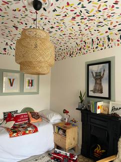 Confetti ceiling
