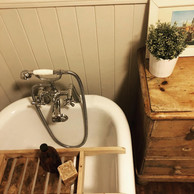 neutral pannelling and vintage finds