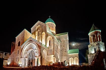 Собор Баграти Вечером Кутаиси.jpg