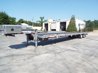 Large drop deck container delivery trailer for containers
