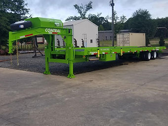 Gooseneck Container Delivery Trailer
