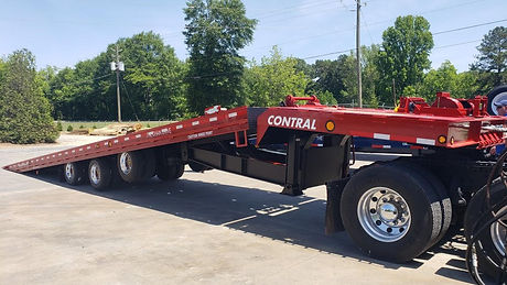 Heavy duty tri axle equipment tilt deck trailer 100,000 lb GVW chain drive for containers 20 40 53 foot