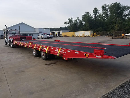 Heavy Haul tandem axle equipment and container delivery trailer